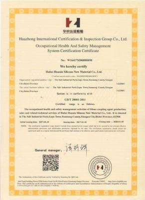 职业健康安全管理体系认证证书-英文